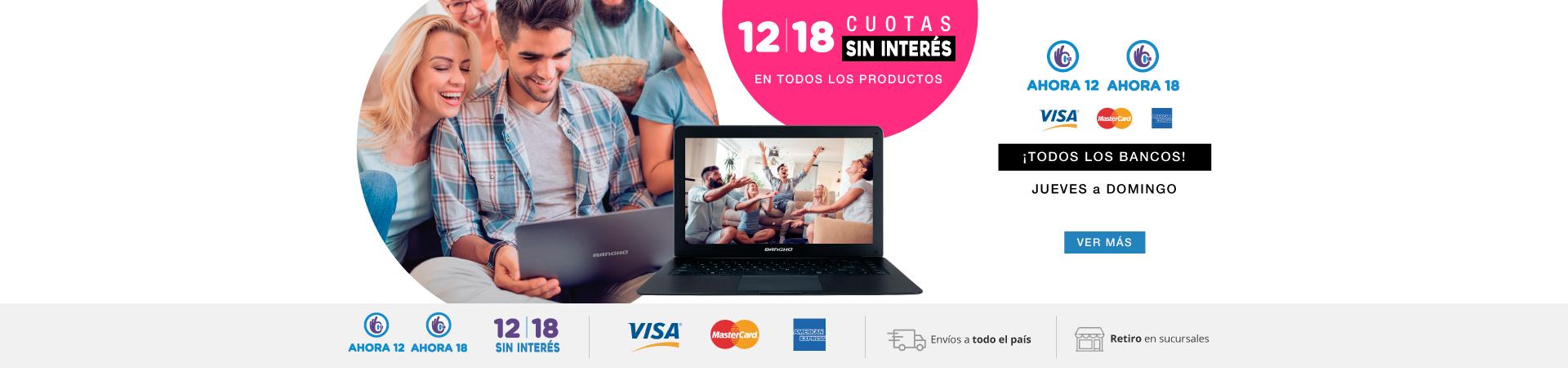 18 cero interés - Jueves a Domingo